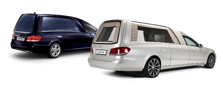 Meiltä saat Binz-hautausautot ja monipuoliset räätälöidyt lavettiratkaisut toiveidesi mukaan